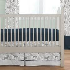 navy and gray woodland 2 piece crib bedding set carousel designs