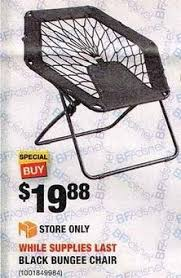 Gravity Chair Home Depot Home Depot Black Friday Black Bungee Chair For 19 88
