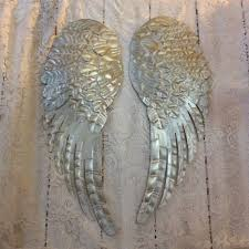 Wings Wall Decor Large Metal Angel Wings Wall Decor Distressed By Lilhoneysshoppe