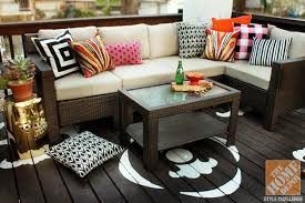 Outdoor Decorating With Color From Kristin Of The Hunted Interior - Home depot interior design