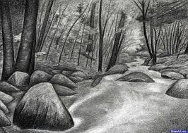 How To Draw Landscapes by Pastel How To Draw Landscape Water Tutorial How To Draw A Village