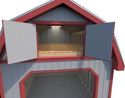 3d model garage gambrel cgtrader