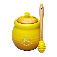 honeypot wedding registry le creuset stoneware 16 ounce honey pot dijon honey