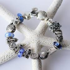 bracelet charm beads silver images Nantucket charm beads blue beetle jpg