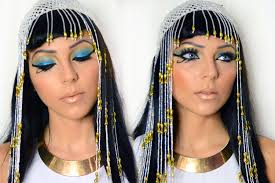cleopatra of egypt halloween makeup youtube