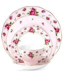 classic china patterns royal albert old country roses pink vintage 5 piece place setting