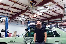 Car Ceiling Fan by Ceiling Fan Commercial Metal Powerfoil X2 0 Big Fans