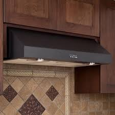 Kitchen Designed For Easy Cleaning With Under Cabinet Range Hood