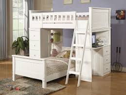 Modern Desks Cheap by White Loft Bed With Desk Beauty And Functional Bedroom Signin Works
