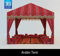 arabian tent tent arabic 3d model
