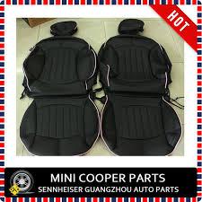 housse siege mini cooper marque nouveau importé pu matériel bord noir couleur mini