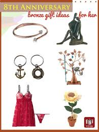 8th anniversary gift ideas for bronze anniversary gift ideas for s