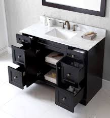 White Bathroom Vanity With Carrera Marble Top by Virtu Usa 48 Inch Elise Square Sink Vanity In Espresso