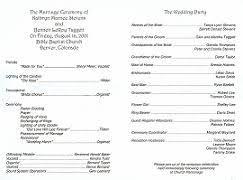 wedding bulletins wedding renewal ceremony programs