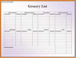 grocery list template 7 free word pdf documents download