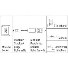 phone extension cable 1x rj12 plug 1x rj12 socket 6 m black