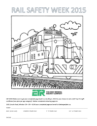 Rail Safety Week 2015 The Essex Terminal Railway Company Rail Color Page