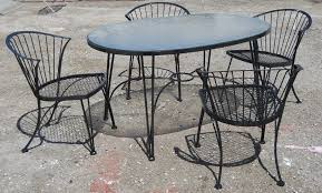 Woodard Wrought Iron Patio Furniture Retro Vegas Tables Sold