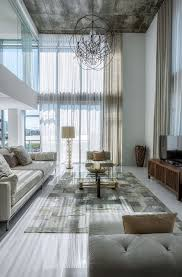 Curtains High Ceiling Decorating 4 Midtown Residence By Mila Design Lifestyle Living Rooms
