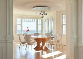 Round Decorative Table Conversion Table Dining Room Contemporary With Modern Light
