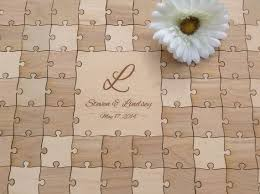 rustic wedding guest books 96 pieces rustic wedding guest book puzzle guest book alternative