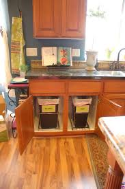 pull out trash cans kitchen cabinet organizers the home depot bin
