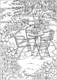 nature scene coloring pages welcome to dover publications from creative haven deluxe edition