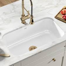 home depot kitchen sink vanity kraus pintura undermount enamel steel 31 in single bowl