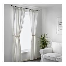 Tie Top Curtains White Lenda Curtains With Tie Backs 1 Pair 55x98