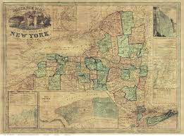 Paper Towns On Maps Prints Of Old New York State Maps