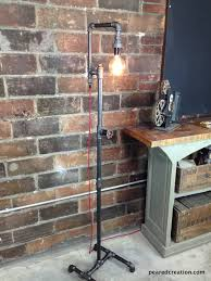 edison bulb floor lamp industrial style bare bulb light