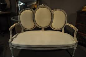 Antique French Settee Antique French Louis Xvi Settee Bench With Triple Oval Back