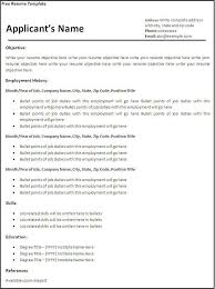 template for resume free free blank resume templates printable gentileforda