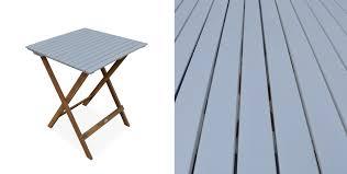 chaises pliables table de jardin en bois 60x60cm barcelona table bistrot pliante