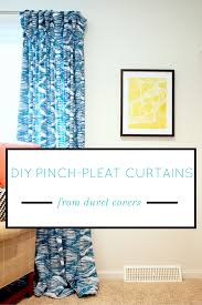 Pinched Duvet Cover Diy Pinch Pleat Curtain Instructions From Duvet Covers Modern