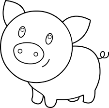 Cute Pig Coloring Page Free Clip Art Pig Coloring Pages
