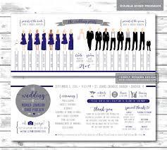 printed programs silhouette wedding program wedding program wedding party