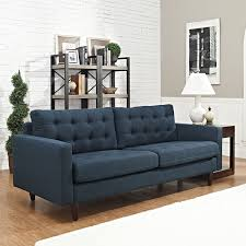 Blue Sofas And Loveseats Amazon Com Modway Empress Mid Century Modern Upholstered Fabric