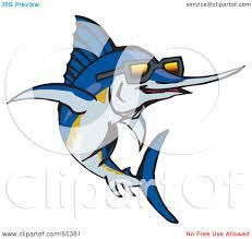 royalty free rf clipart illustration of a blue marlin fish