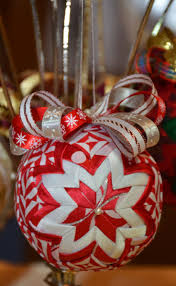 104 best quilted balls images on pinterest quilted ornaments