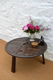 18thc ox cart wheel coffee table antiques atlas