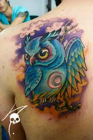 owl color tattoos beautiful images