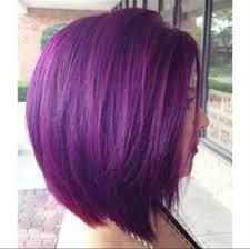 best haircolors for bobs greyish purple haircolor cool short hair cut for thick hair