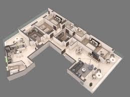 3d apartment floorplan cgtrader