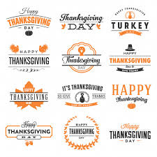 happy thanksgiving day design collection vector premium