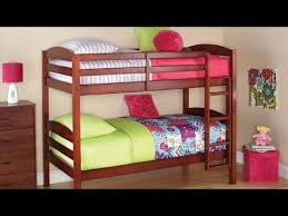 mainstays twin over twin wood bunk bed youtube