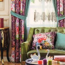Turquoise Curtains For Living Room Floral Turquoise Velvet Curtains No Vlance