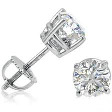 baby diamond earrings 1 4 ctw brilliant diamond baby stud earrings with safety