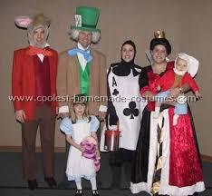 Halloween Costumes Alice Wonderland Coolest Homemade Alice Wonderland Group Costume Ideas