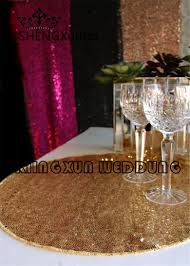 aliexpress com buy sale 40cm round sequin table placemat